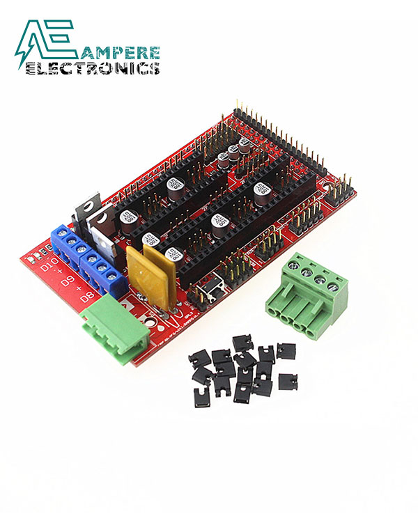 3D Printer Electronics Kit1, Mega 2560 R3, RAMPS 1.4 Controller, LCD 12864, 6x Limit Switch Endstop, 5x A4988