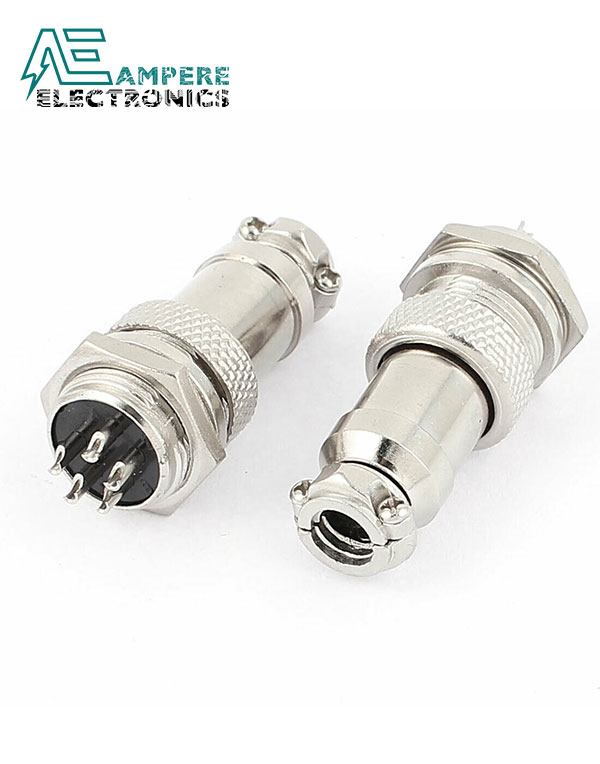 GX16-5 Pole Metal Male Female Panel Connector