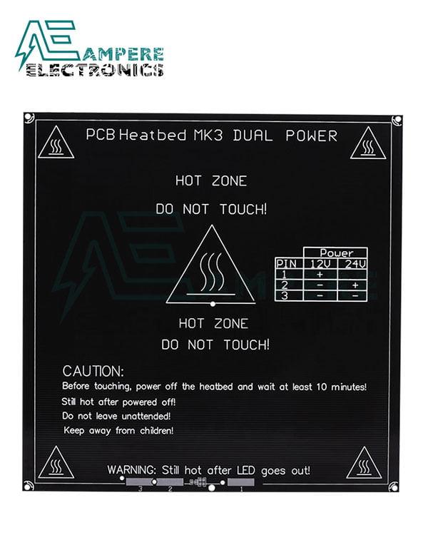 3D Printer MK3 Aluminum HeatBed 310x310x3mm 12vdc 220w