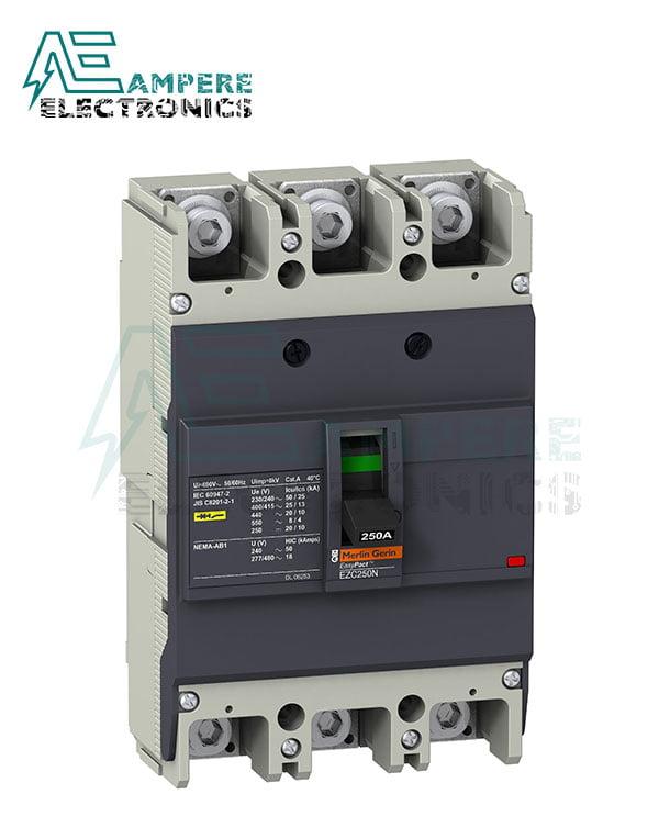 EZC250N3160 – circuit breaker Easypact EZC250N – TMD – 160 A – 3 poles 3d, Schneider Electric