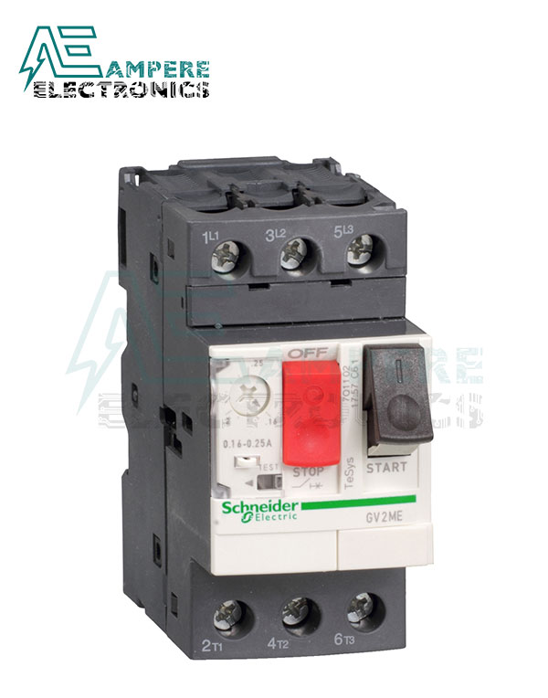 GV2ME16 – Motor circuit breaker, TeSys GV2, 3P, 9-14 A, thermal magnetic, screw clamp terminals, Schneider Electric