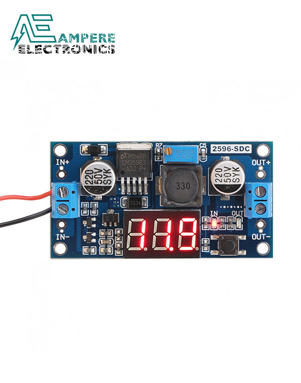 LM2596S DC-DC  Converter Step-Down Power Module With LED Voltmeter