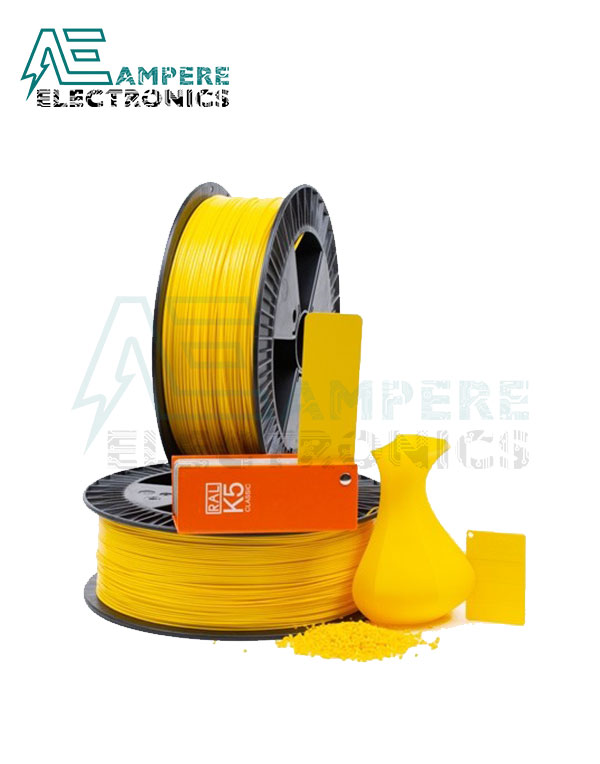 MAXWELL Yellow Color PLA Filament 1.75mm – 1kg/Roll