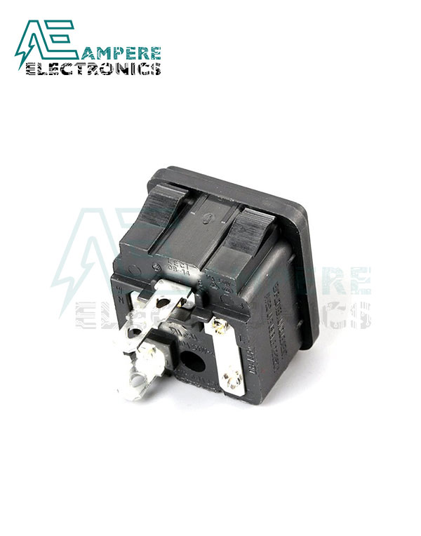 Panel Mount AC Inlet Power Socket With Fuse