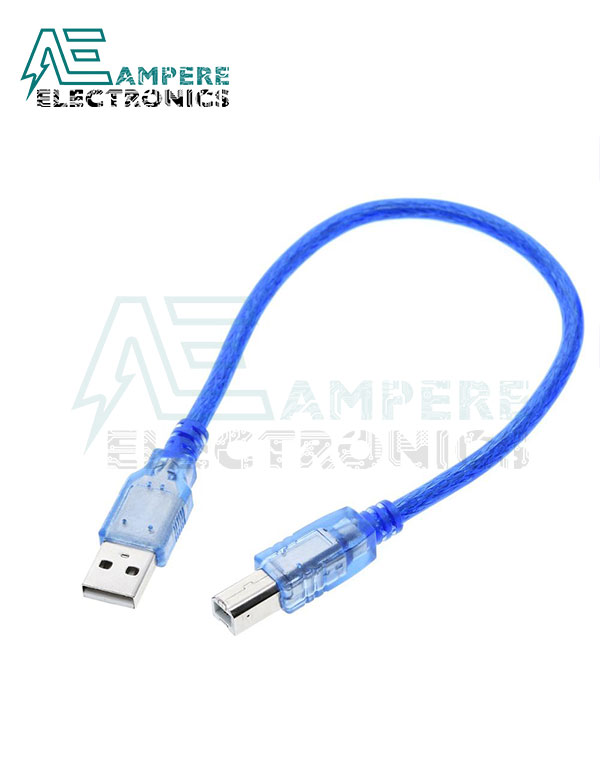 USB 2.0  B-Type Cable For Arduino, 30Cm Length