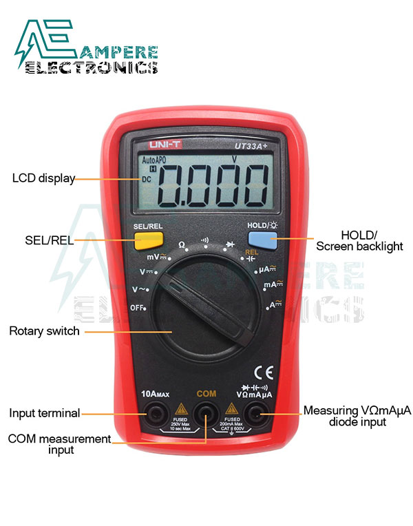 UT33A+ Auto Range Palm-Size Digital Multimeter | UNI-T