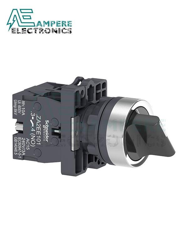 XA2ED33 – Selector switch – Ø22 – standard handle – 3 positions – 2NO, Schneider Electric