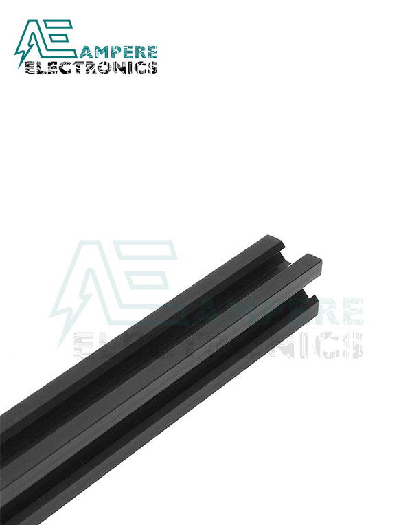 20x20x1000mm V-Slot Aluminum Profiles – Black Anodized