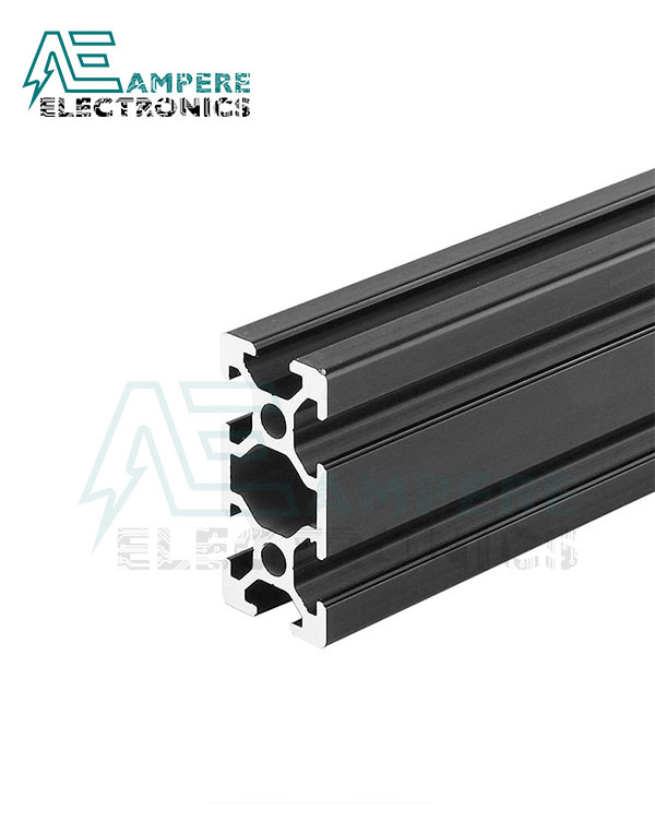 20x40x1000mm V-Slot Aluminum Profiles – Black Anodized