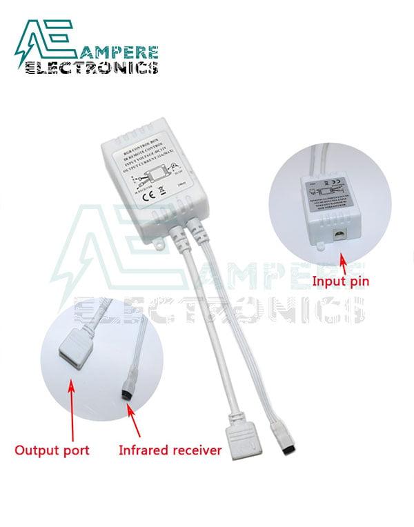 24-Key IR Remote Controller For RGB LED Strip