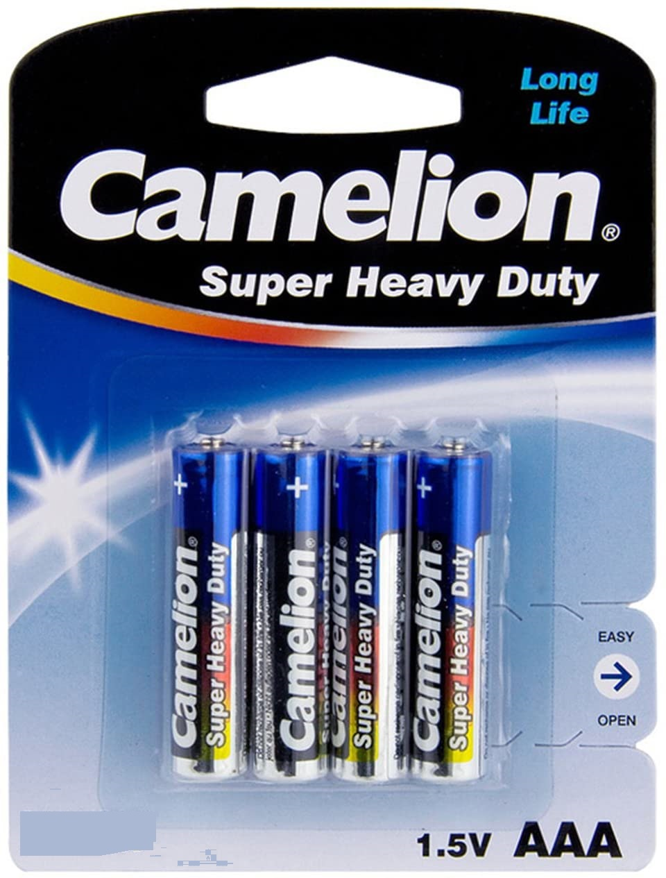 Camelion Super Heavy Duty , Size AAA-1.5V – 4Pcs (R03P-BP4B)