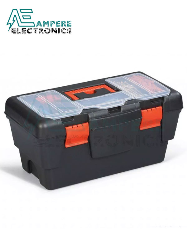 Empty Black Tools Box 16″ with Hang (DY-16B)