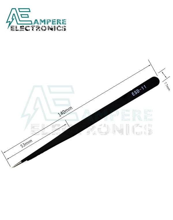 Stainless Steel Anti-Static Tweezers Straight