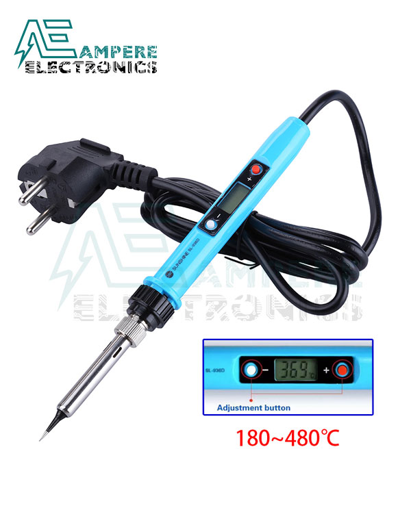 Adjustable Temperature Electric Soldering Iron Digital LCD 220V / 80W – Sunshine SL-936D
