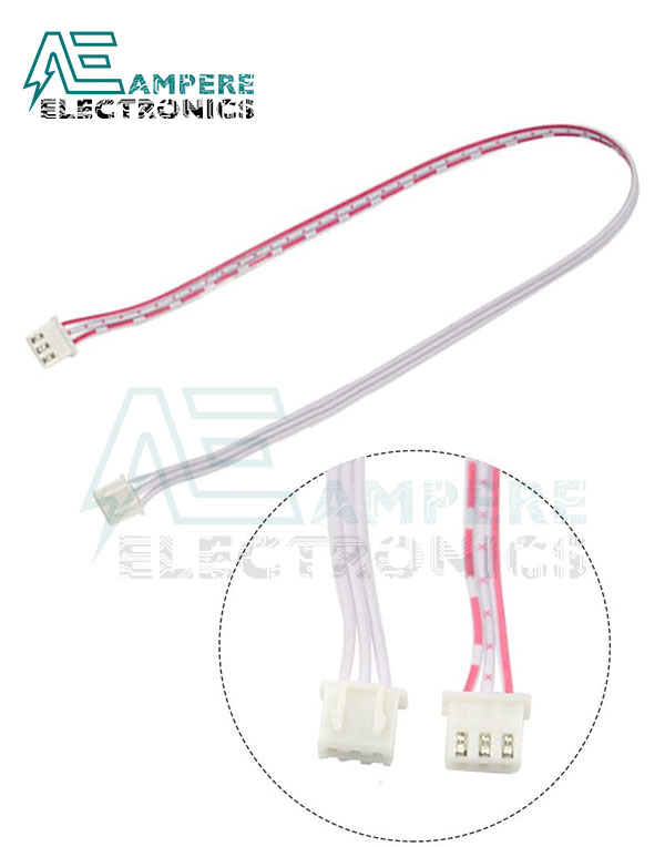 3Pin Xh2.54 JST Female To Female Connector With 300mm Wire