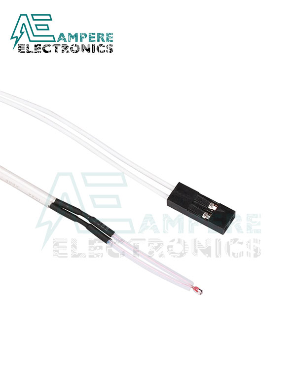100K Ohm NTC Thermistors Temperature Sensor With Cable for 3D Printer – 2Pin Dupont Head