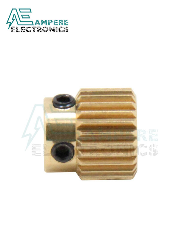 Brass Extruder Gear 26 teeth With M3 Screw For 3D Printer