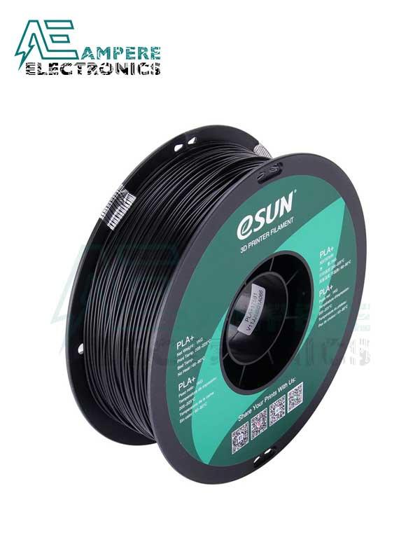 eSUN Black Color 3d Printer Filament PLA+ 1.75mm – 1kg/Roll