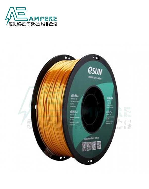 eSUN Gold Color 3d Printer Filament PLA+ 1.75mm – 1kg/Roll
