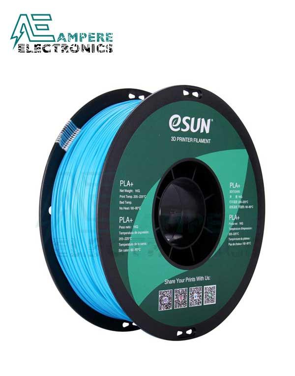 eSUN Light Blue Color 3d Printer Filament PLA+ 1.75mm – 1kg/Roll