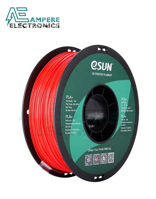 eSUN Red Color 3d Printer Filament PLA+ 1.75mm - 1kg/Roll
