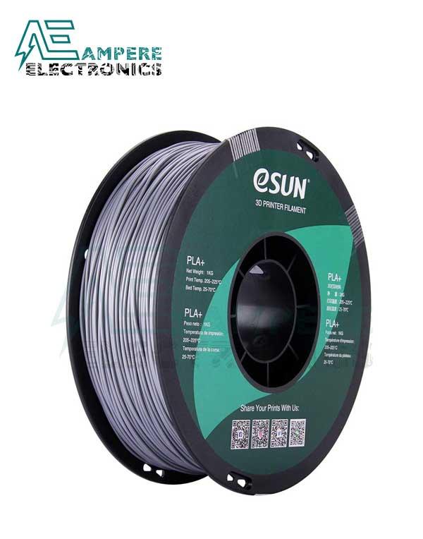 eSUN Silver Color 3d Printer Filament PLA+ 1.75mm – 1kg/Roll