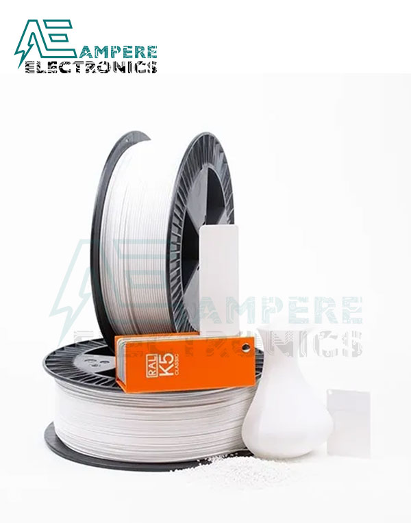 MAXWELL WHITE Color PLA Filament 1.75mm – 1kg/Roll