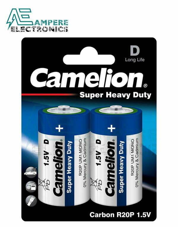 Camelion Super Heavy Duty , Size D 1.5V – 2Pcs (R20P-BP2B)