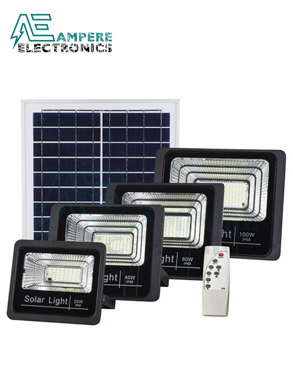 100W LED Outdoor Solar Powered Floodlight With Remote Control