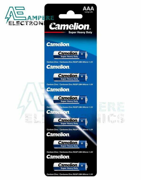 Camelion Super Heavy Duty , Size AAA-1.5V – 6Pcs (R03P-BP1)