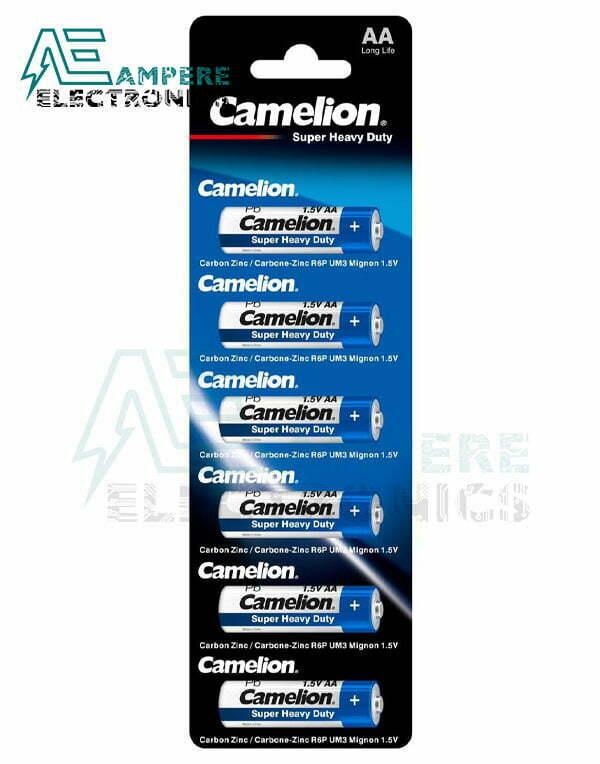 Camelion Super Heavy Duty , Size AA-1.5V – 6Pcs (R6P-BP1)