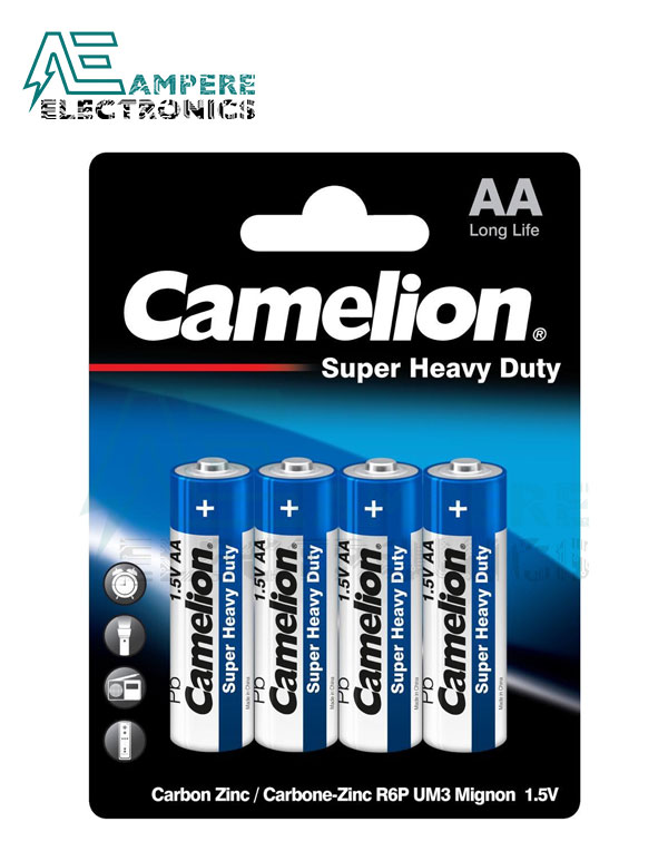 Camelion Super Heavy Duty , Size AA-1.5V – 4Pcs (R6P-BP4B)