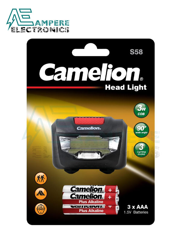Camelion LED Head Light 3 Mode adjustable angle With AAA Batteries
