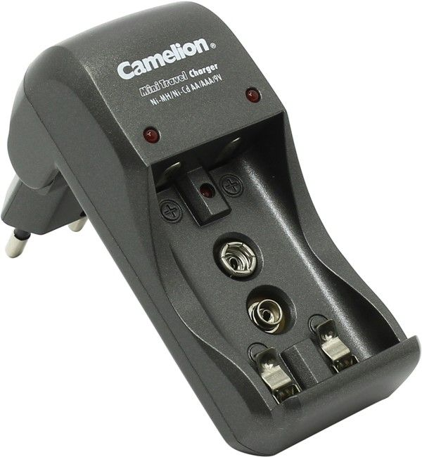 Camelion Mini Travel Charger, For AA/AAA/9V Batteries