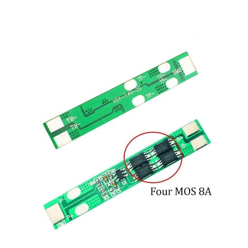 BMS 2S 8A 2 String lithium battery protection board 7.4V 8.4V 18650