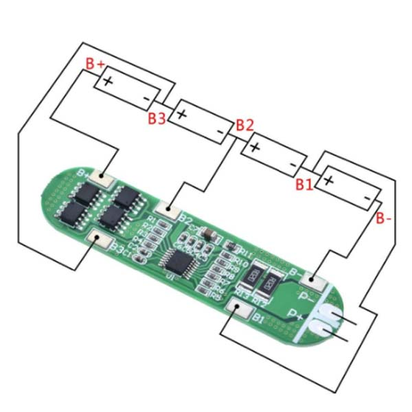 BMS 4S 10A 4 String lithium battery protection board 14.8V 18650