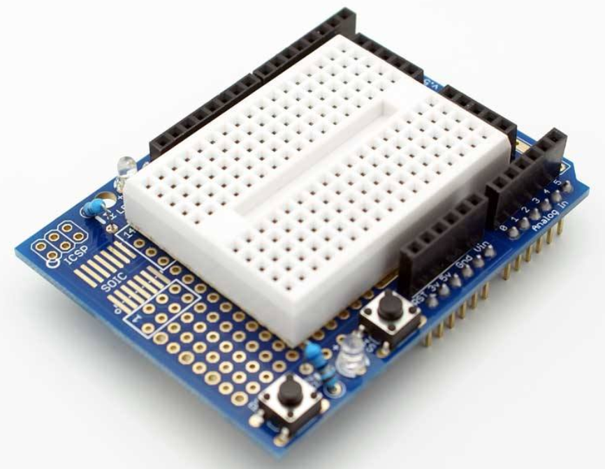 Arduino UNO Shield ProtoShield With Mini Breadboard