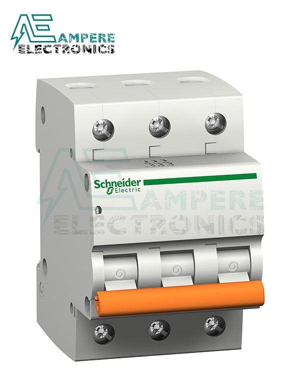 11053 – Domae MCB – Miniature Circuit Breaker – 3P – 20A – C Curve – 4500A, Schneider Electric