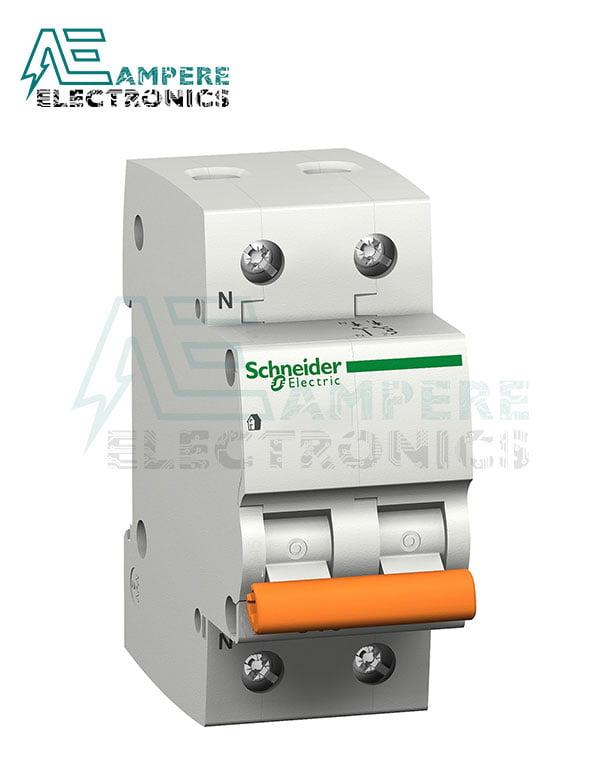 12494 Domae Miniature Circuit Breaker – 2P – 10A – C Curve – 4500A, Schneider Electric