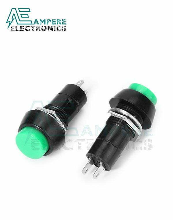 Push Button Latching Green N.O – 12mm