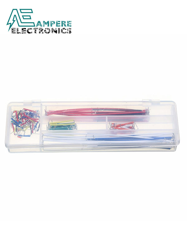140Pcs Breadboard Solid Jumper Wires Set with Plastic Box