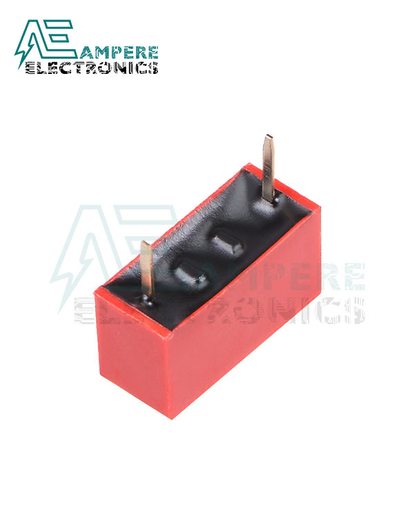 1 Way Red DIP Switch, 2.54mm Pitch