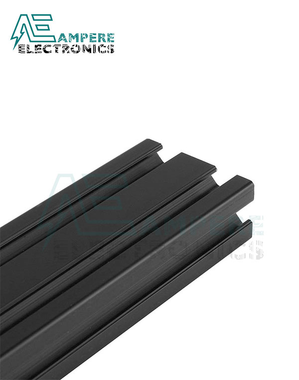 2040 V-Slot Aluminum Profile Extrusion (1M – Black Anodized)
