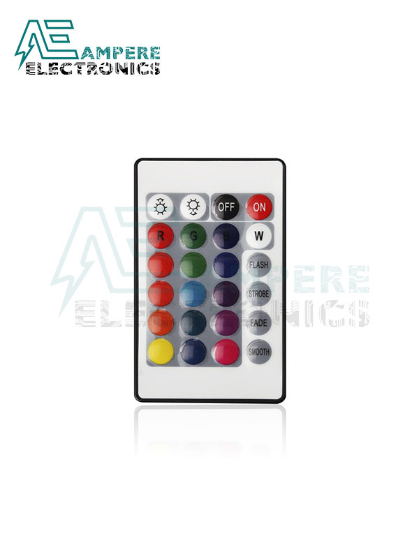 24-Key IR Remote Controller For RGB LED Strip