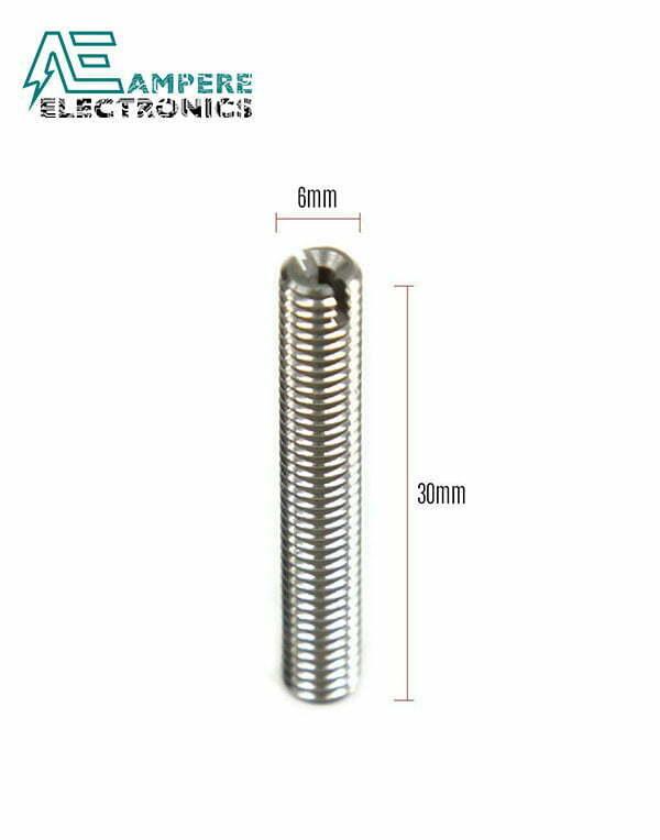 3D Printer Extruder Pipe Screw M6x35 with inner Teflon tube