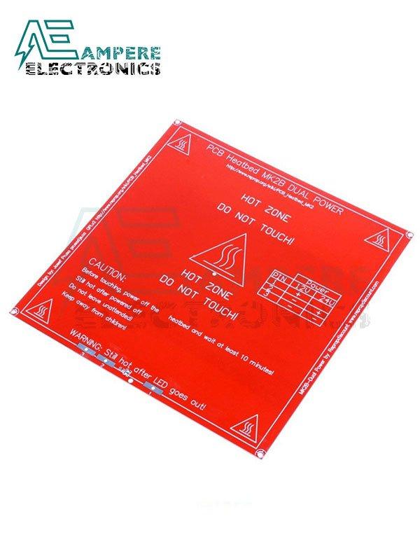 3D Printer MK2B PCB HeatBed 214x214mm – Dual Supply