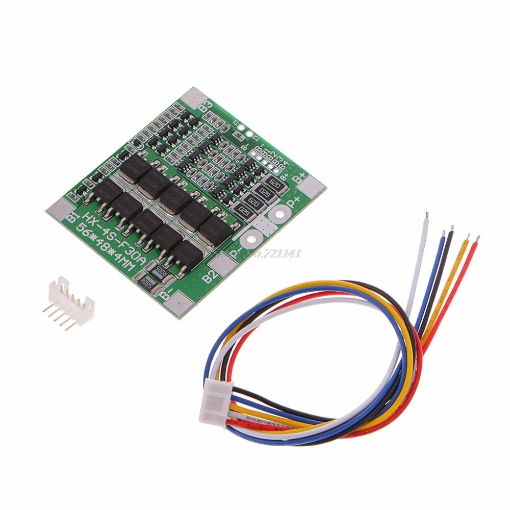 BMS 4S 30A 4 String lithium battery protection board 14.8V 18650