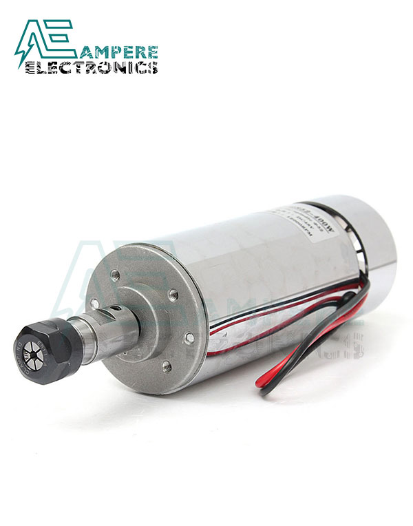 400W Air Cooled ER11 CNC Spindle Motor 12:48Vdc