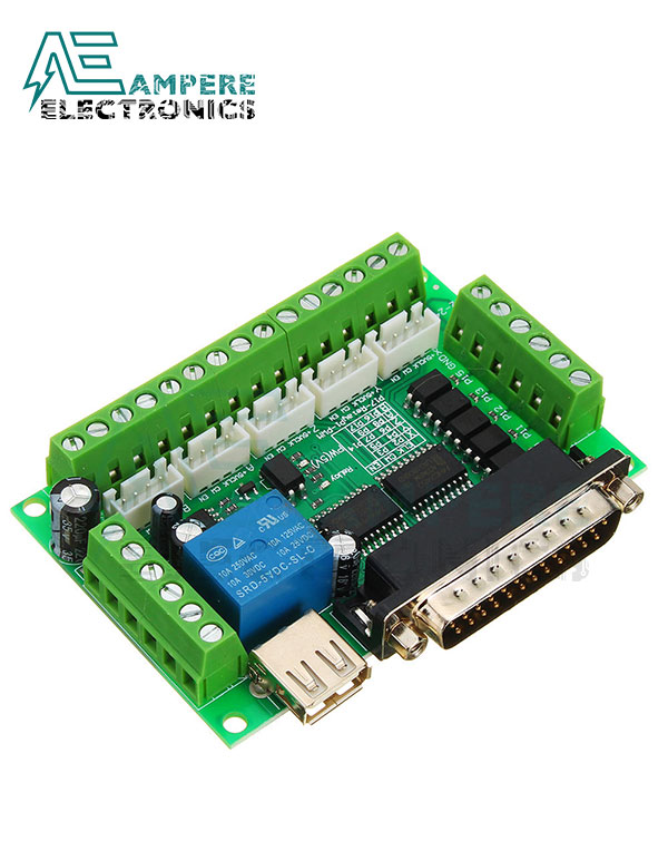 5 Axis CNC Breakout Board Interface Mach3 With USB Cable