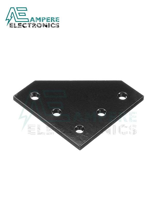 90 Degree Joining Plate 3mm | Black Aluminum
